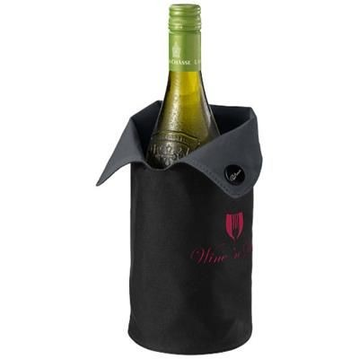 Picture of NORON FOLDING WINE BOTTLE COOLER SLEEVE in Black Solid-grey