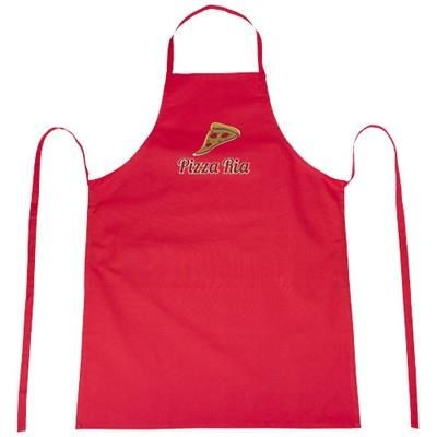 Picture of REEVA 100% COTTON APRON with Tie-back Closure in Red