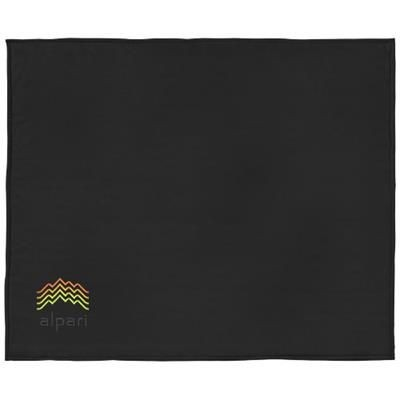 Picture of SPRINGWOOD SOFT FLEECE AND SHERPA PLAID PICNIC BLANKET in Black Solid-off-white