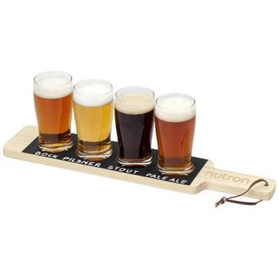 Picture of CHEERS SERVING TRAY in Wood