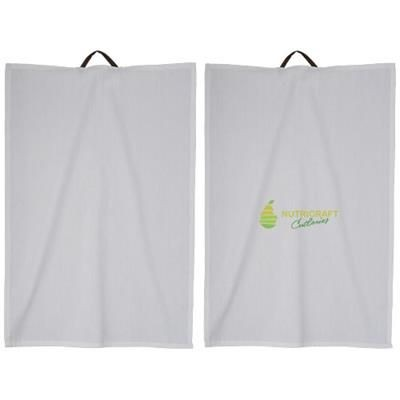 Picture of LONGWOOD 2-PIECE COTTON KITCHEN TOWEL SET in White Solid