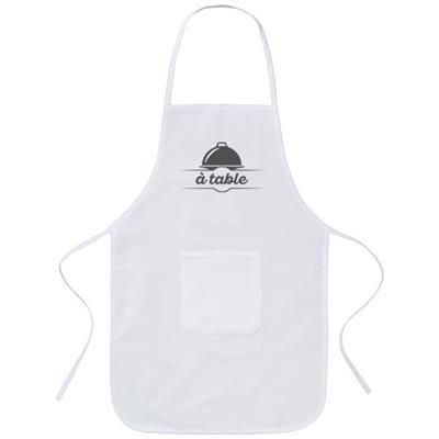 Picture of GIADA COTTON CHILDRENS APRON in White Solid