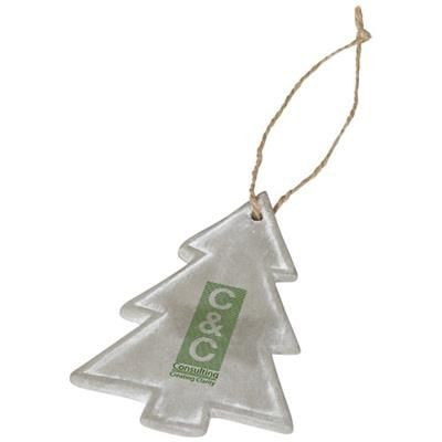 Picture of SEASONAL CHRISTMAS TREE ORNAMENT in Grey