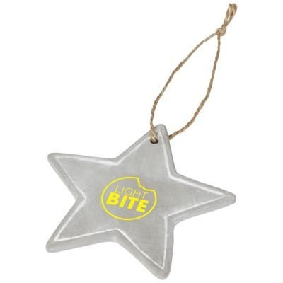 Picture of SEASONAL STAR ORNAMENT in Grey
