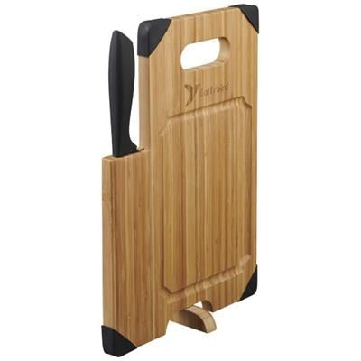 Picture of BAMBOO CUTTING BOARD with Knife in Wood