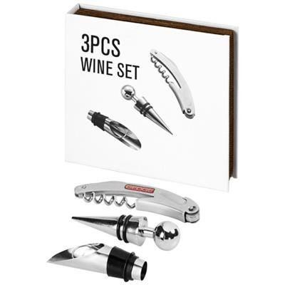 Picture of NANTES 3-PIECE WINE SET in Silver