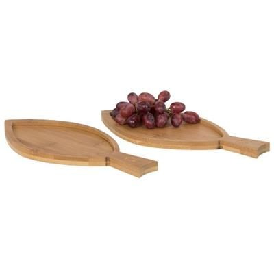 Picture of 2-PIECE BAMBOO AMUSE SET FISH in Wood