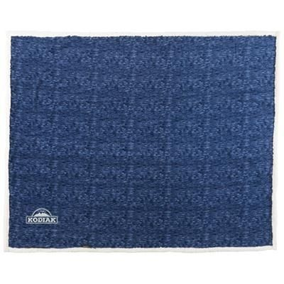 Picture of SAM HEATHERED FLEECE PLAID PICNIC BLANKET in Navy