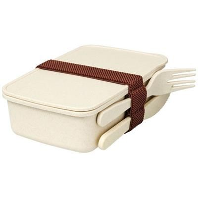 Picture of BAMBERG BAMBOO FIBRE LUNCH BOX in Beige