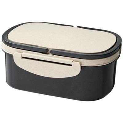 Picture of CRAVE WHEAT STRAW LUNCH BOX in Black Solid