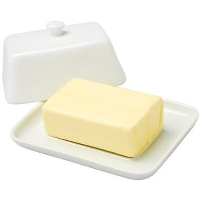 Picture of HOLDEN BUTTER DISH in White Solid