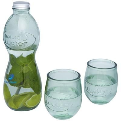Picture of BRISA 3-PIECE RECYCLED GLASS SET in Transparent Clear Transparent