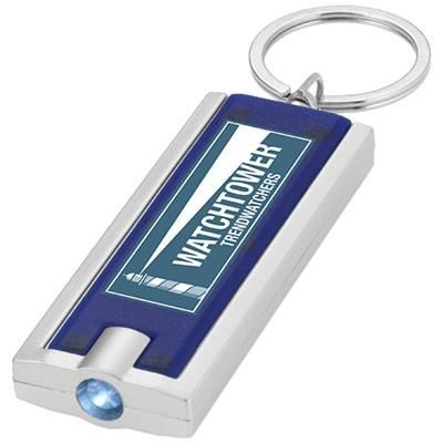 Picture of CASTOR LED KEYRING CHAIN LIGHT in Blue-silver