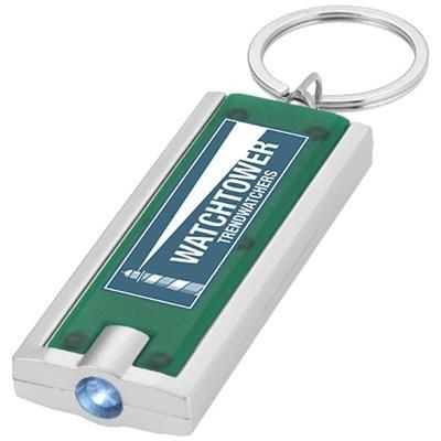 Picture of CASTOR LED KEYRING CHAIN LIGHT in Green-silver