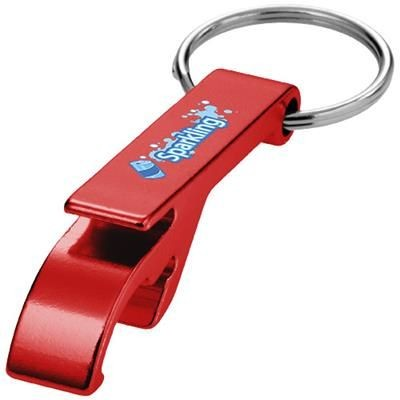 Picture of TAO BOTTLE AND CAN OPENER KEYRING CHAIN in Red
