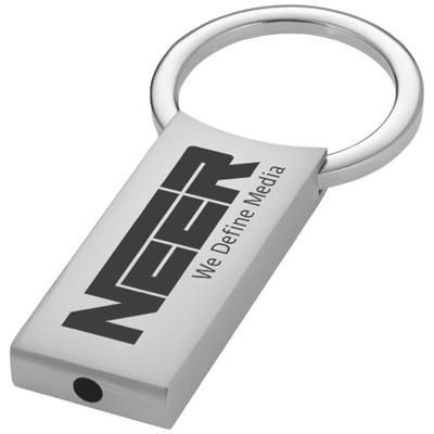 Picture of OMAR RECTANGULAR KEYRING CHAIN in Silver