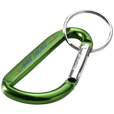 Picture of TIMOR CARABINER KEYRING CHAIN in Green