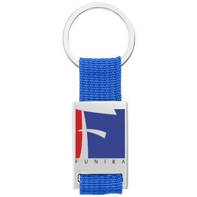 Picture of ALVARO WEBBING KEYRING CHAIN in Silver-royal Blue