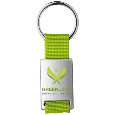 Picture of ALVARO WEBBING KEYRING CHAIN in Silver-lime Green