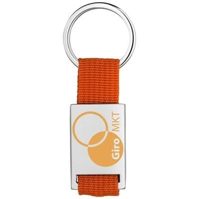 Picture of ALVARO WEBBING KEYRING CHAIN in Silver-orange