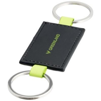 Picture of FELIPE KEYRING CHAIN in Black Solid-lime