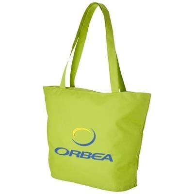 Picture of PANAMA ZIPPERED TOTE BAG in Lime
