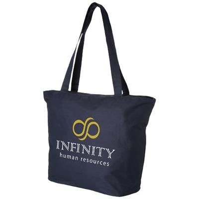 Picture of PANAMA ZIPPERED TOTE BAG in Navy