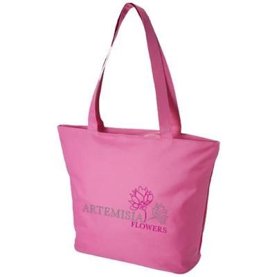 Picture of PANAMA ZIPPERED TOTE BAG in Pink