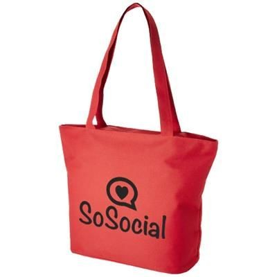 Picture of PANAMA ZIPPERED TOTE BAG in Red