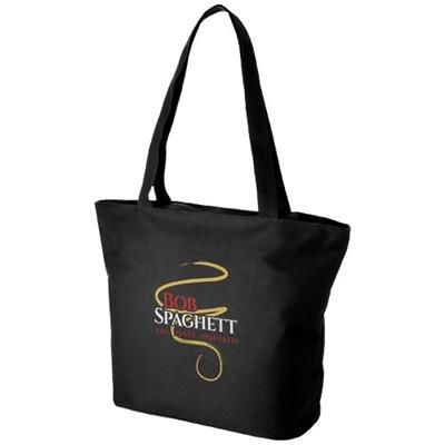 Picture of PANAMA ZIPPERED TOTE BAG in Black Solid