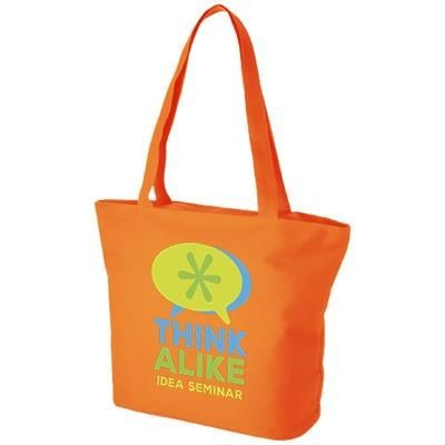 Picture of PANAMA ZIPPERED TOTE BAG in Orange