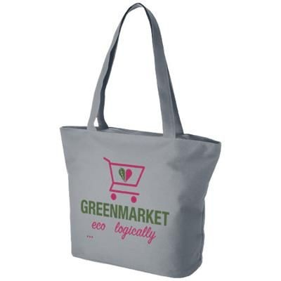 Picture of PANAMA ZIPPERED TOTE BAG in Grey