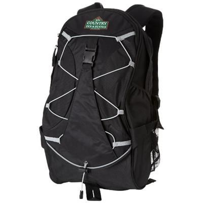Picture of HIKERS ELASTIC BUNGEE CORD BACKPACK RUCKSACK in Black Solid
