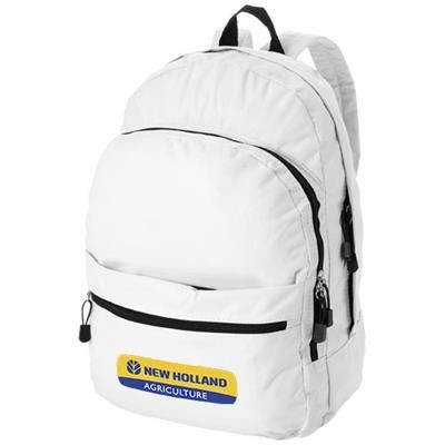 Picture of TREND 4-COMPARTMENT BACKPACK RUCKSACK in White Solid