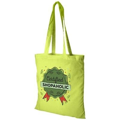 Picture of CAROLINA 100 G-M² COTTON TOTE BAG in Lime