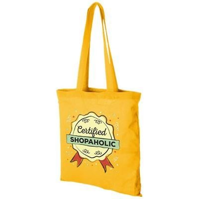 Picture of CAROLINA 100 G-M² COTTON TOTE BAG in Yellow