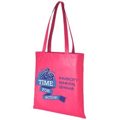 Picture of ZEUS LARGE NON-WOVEN CONVENTION TOTE BAG in Magenta