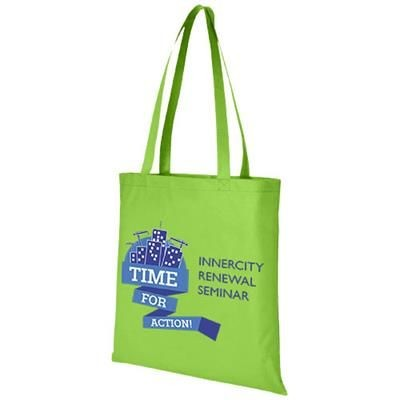 Picture of ZEUS LARGE NON-WOVEN CONVENTION TOTE BAG in Lime