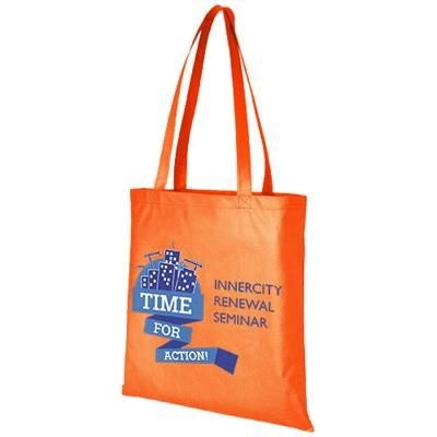 Picture of ZEUS LARGE NON-WOVEN CONVENTION TOTE BAG in Orange