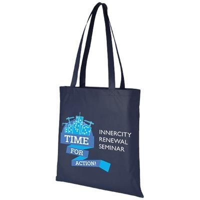 Picture of ZEUS LARGE NON-WOVEN CONVENTION TOTE BAG in Navy