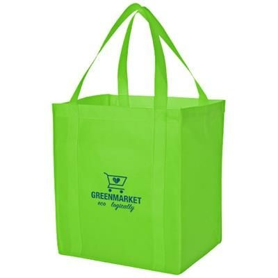 Picture of LIBERTY BOTTOM BOARD NON-WOVEN TOTE BAG in Lime