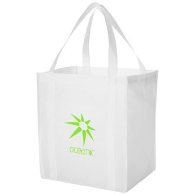 Picture of LIBERTY BOTTOM BOARD NON-WOVEN TOTE BAG in White Solid