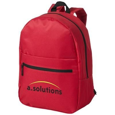 Picture of VANCOUVER DUAL FRONT POCKET BACKPACK RUCKSACK in Red