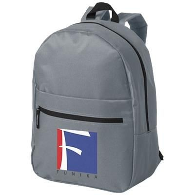 Picture of VANCOUVER DUAL FRONT POCKET BACKPACK RUCKSACK in Grey