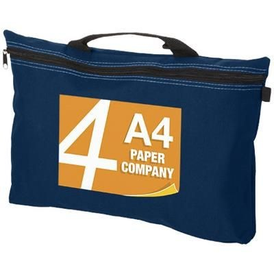 Picture of ORLANDO ZIPPERED CONFERENCE BAG with Pen-Loop in Navy
