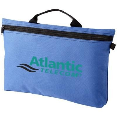 Picture of ORLANDO ZIPPERED CONFERENCE BAG with Pen-Loop in Royal Blue