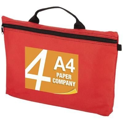Picture of ORLANDO ZIPPERED CONFERENCE BAG with Pen-Loop in Red