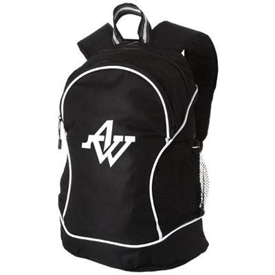 Picture of BOOMERANG BACKPACK RUCKSACK in Black Solid