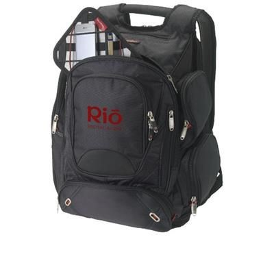 Picture of PROTON 17 CHECKPOINT FRIENDLY LAPTOP BACKPACK RUCKSACK in Black Solid