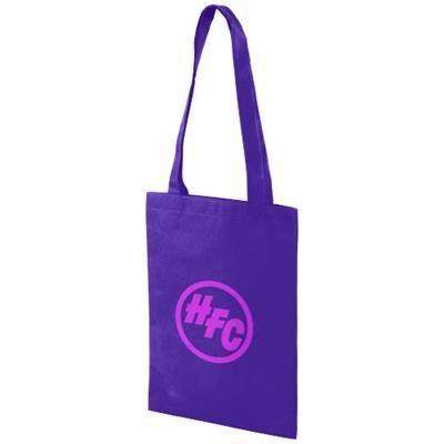 Picture of EROS NON-WOVEN SMALL CONVENTION TOTE BAG in Purple